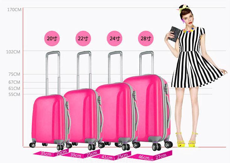 旅行行李箱常见尺寸指南